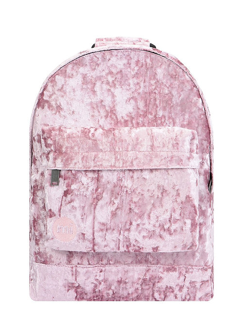 Женский розовый рюкзак из бархата MI-PAC Premium  CRUSHED VELVET BACKPACK - PINK