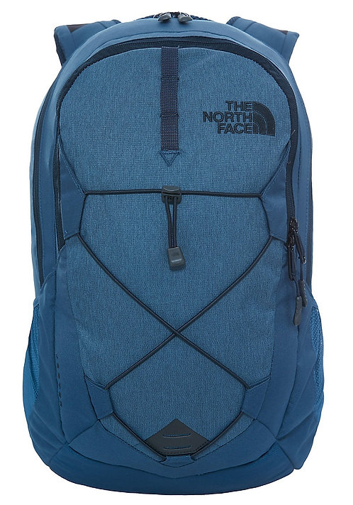 The North Face Jester Backpack Shady Blue Heather/Urban Navy.Синий унисекс рюкзак для города и прогулок.