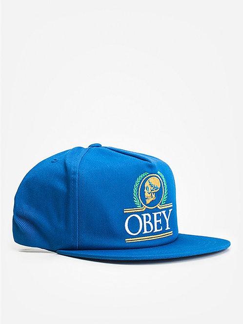 OBEY EMPERORS COBALT BLUE Кепка с прямым козырьком OBEY