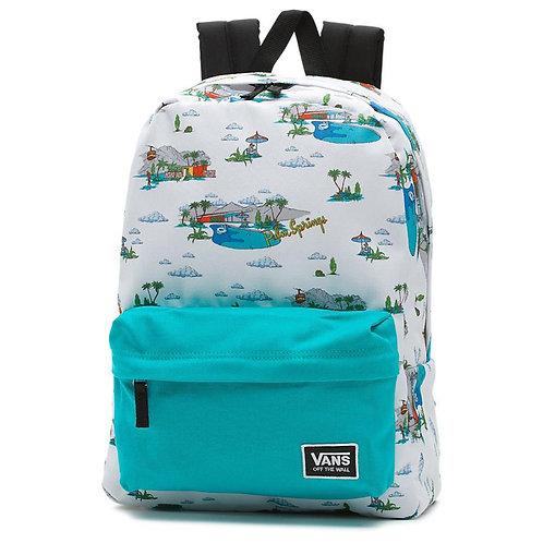 Vans Realm Classic Backpack Palm Springs Светло-голубой рюкзак для девушек.