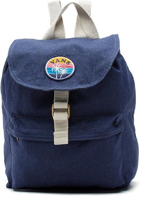 Синий рюкзак Vans. Малый хлопковый рюкзак Vans для девушек.