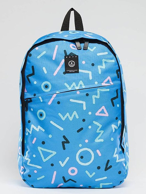 NEFF Daily Blue Geometry Яркий синий рюкзак геометрия от Neff
