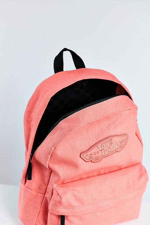 Vans Backpack – Realm Backpack coral Коралловый,персиковый женский рюкзак Vans.