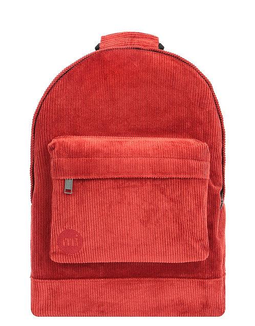 Оранжевый рюкзак унисекс из толстого вельвета MI-PAC Premium  CORDUROY BACKPACK - BURNT ORANGE