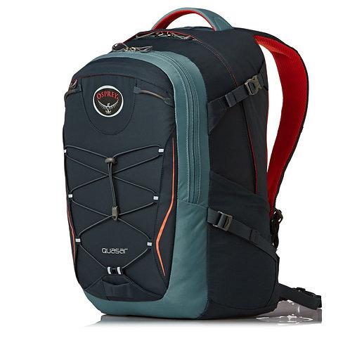 Osprey Quasar 28 Backpack - Armor Grey. Унисекс рюкзак красно-серый.