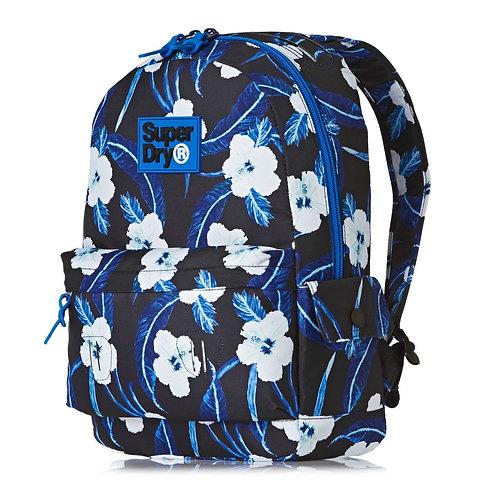 Женский синий рюкзак superdry. Молодежный для города.