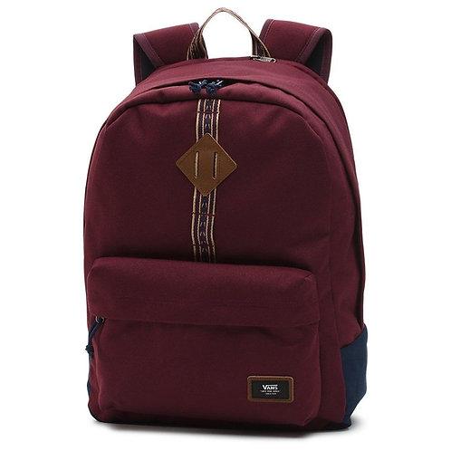 Vans Old Skool Plus Backpack  port royale/dress blues Мужской прочный рюкзак бордового цвета с лентой прошивкой