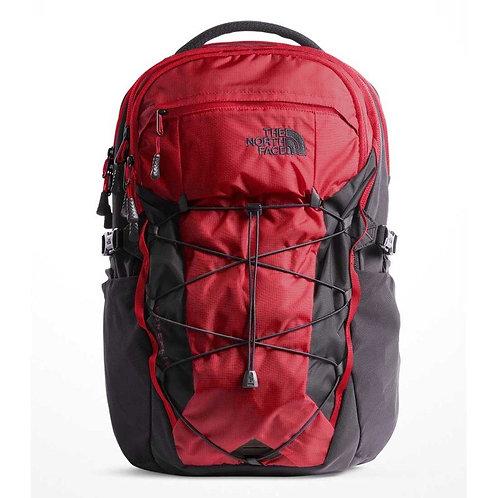 The North Face BOREALIS BACKPACK  RAGE RED RIPSTOP/ASPHALT GREY(CORDURA) черно-красный,прочный рюкзак.