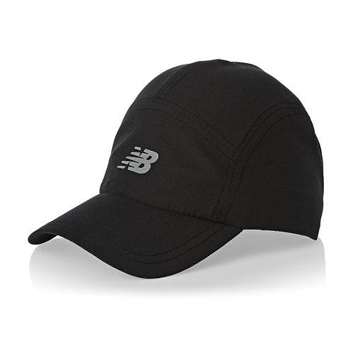 New Balance 5 Panel Core Hat Black-Черная кепка для бега и фитнеса,унисекс