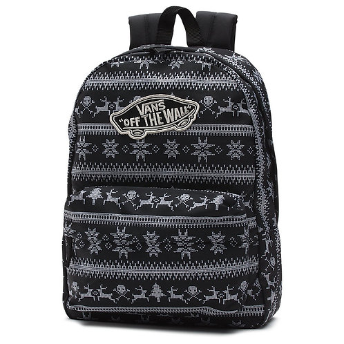 Vans Realm Holiday-Черно-серый женский рюкзак