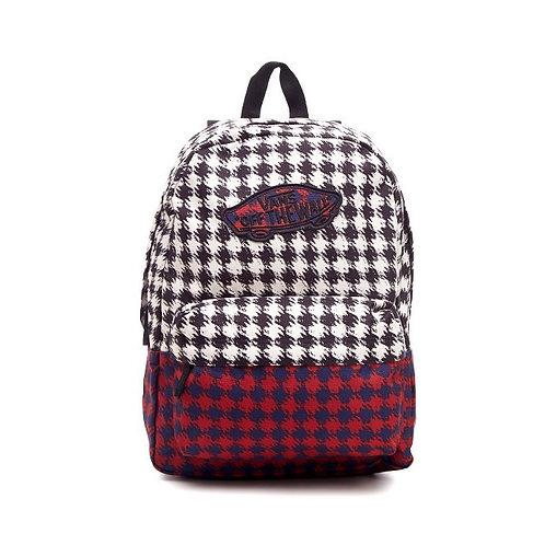 VANS Old Skool II Check Backpack Bag Garnet-Женский рюкзак к клетку,гранат.