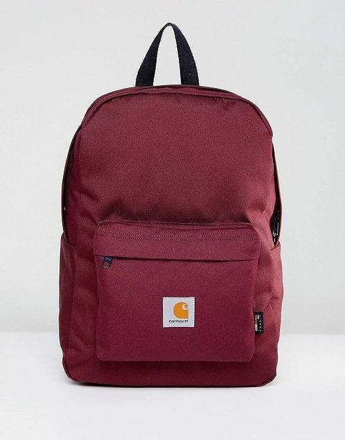 Carhartt WIP Watch Burgundy/maroon Cordura Мужской крепкий рюкзак бордового цвета