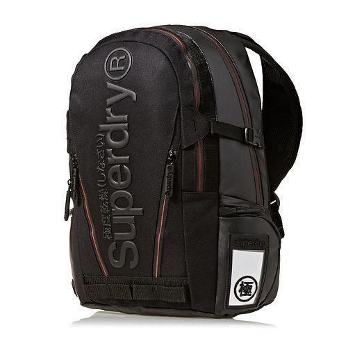 Superdry Buff Tarp Black Модный черный непромокаемый рюкзак Superdry для мужчин.