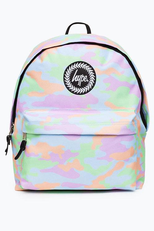 Hype Backpack Pastel Camo Bags Рюкзак с камуфляжным салатово-голубым принтом Hype