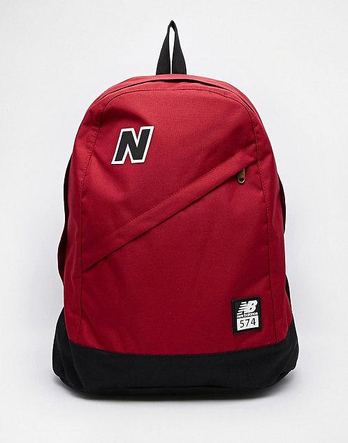 New Balance 574 red Красный молодежный рюкзак.