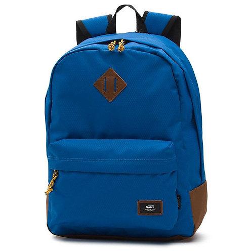 VANS OLD SKOOL PLUS BACKPACK - DELFT - TOFFEE Мужской очень прочный синий рюкзак