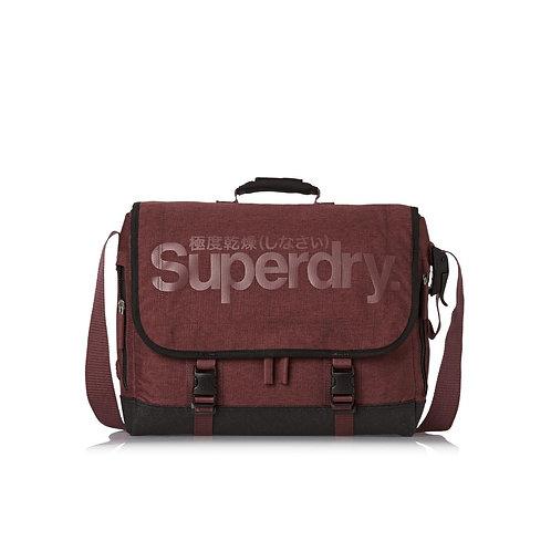 Бордовая мужская практичная сумка-Superdry