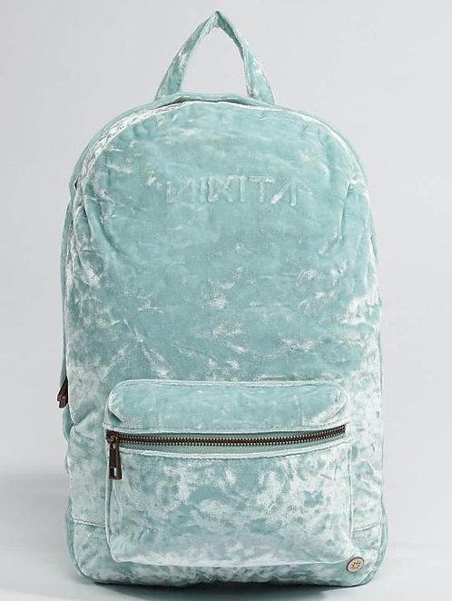 Nikita Pika Backpack Blue Haze Девчачий Светло-голубой бархатный красивый рюкзачок ИIKITA!