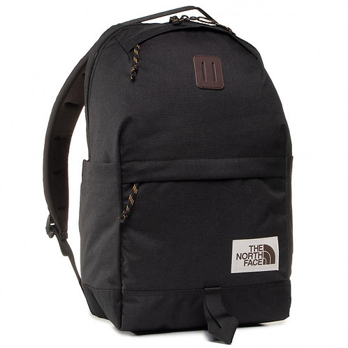 THE NORTH FACE DAYPACK BLACK Черный высокопрочный мужской рюкзак для мегаполиса на каждый день