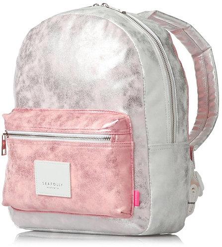 Seafolly Metallic Backpack Metallic Розовый женский рюкзак. Красивый практичный рюкзак для девушек.
