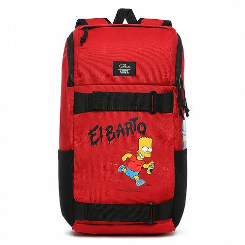 THE SIMPSONS X VANS OBSTACLE SKATEPACK (Special version). Красный унисекс рюкзак на каждый день плюс подарок крутой браслет!)