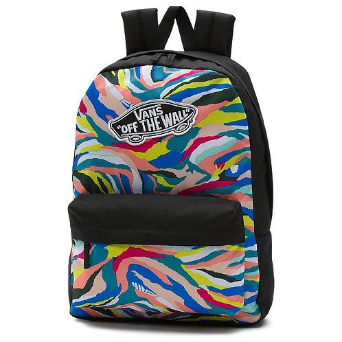 Vans-realm abstract horizon-Женский рюкзак с обстрактным рисунком