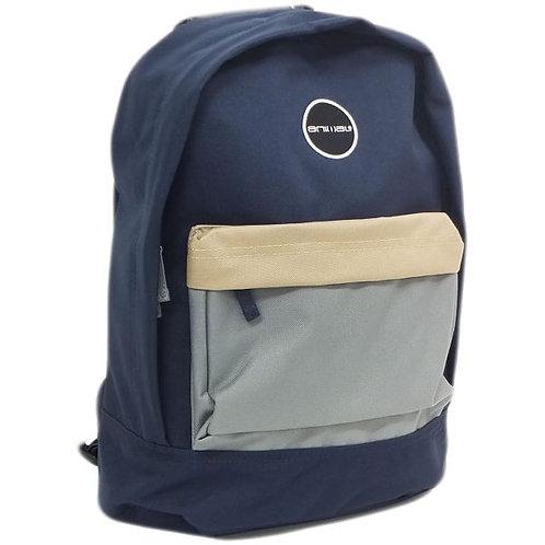 Рюкзак синий с кармашком унисекс разноцветный