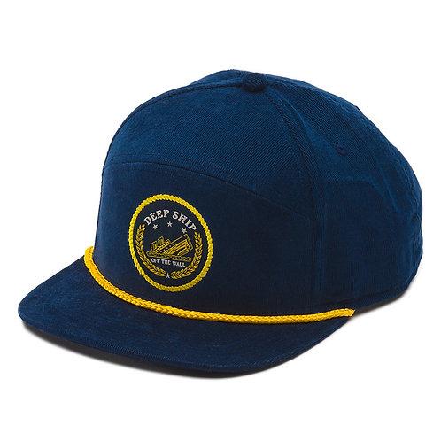 Vans BARDWELL 6 PANEL-Синяя вельветовая кепка