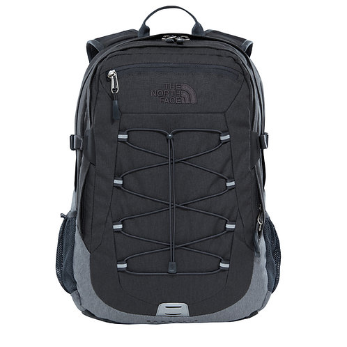 The North Face Borealis Classic Backpack TNF Dark Grey Heather/TNF Med Grey Heather-Серый мужской вместительный рюкзак