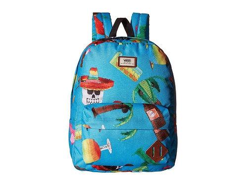 Цветной рюкзак Vans унисекс. Vans Old Skool II Backpack El Guapo - Blue