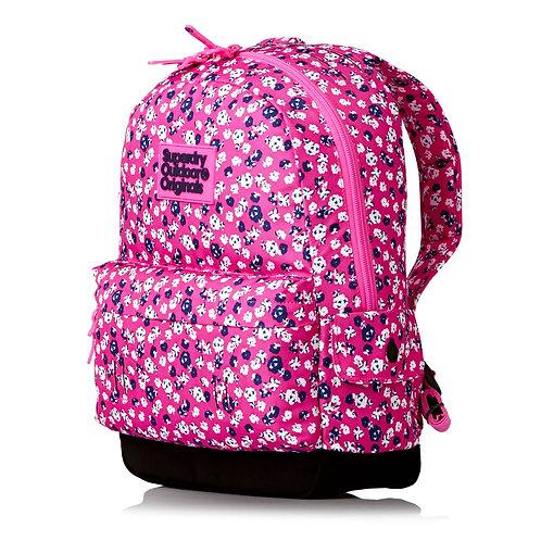 Superdry Ditsy Montana Backpack Fluro Pink-white-Яркий,цветочный женский рюкзачек
