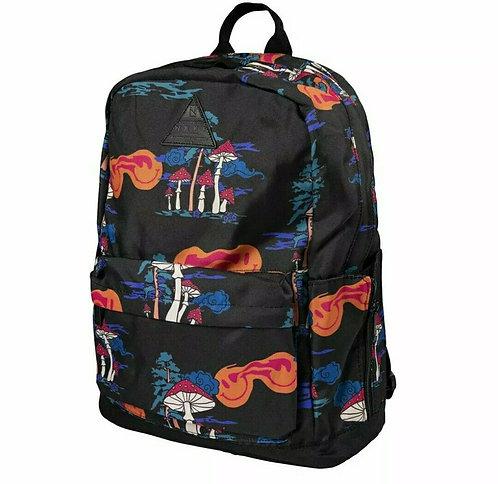 Рюкзак с крутым принтом унисекс NEFF MEN'S PROFESSOR XL BACKPACK BAG FUNLAND BLACK