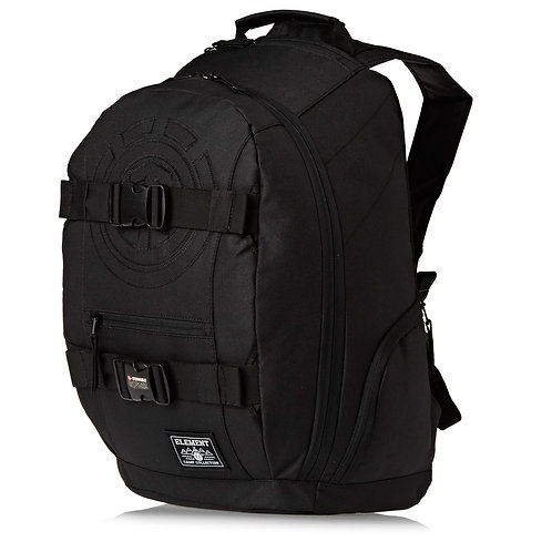 ELEMENT MOHAVE BACKPACK All Black-Находка Скейтера! Мужской вместительный рюкзак для серфа на асфальте.