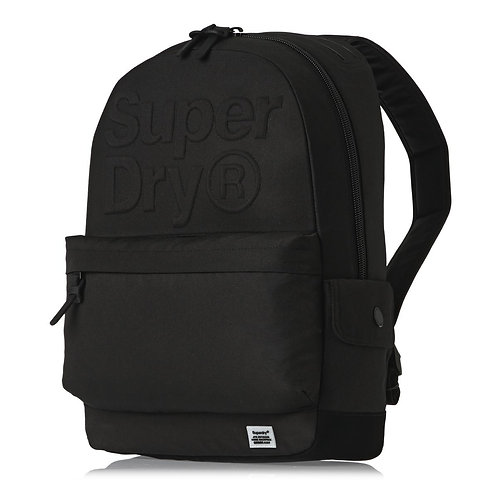 Черный мужской рюкзак. Модный рюкзак superdry.