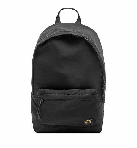 CARHARTT WIP ASHTON BACKPACK BLACK Season-2020  Черный рюкзак на каждый день из шелковистой саржи
