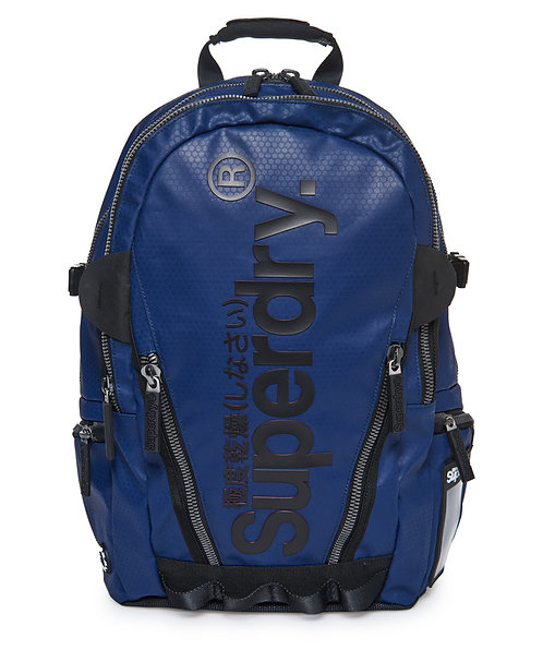 Superdry Silver Tarp Backpack Navy Мужской рюкзак Superdry синего цвета из прочного нейлона.