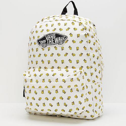 Женский светлый рюкзак спецверсии VANS X PEANUTS REALM BACKPACK WOODSTOCK WHITE