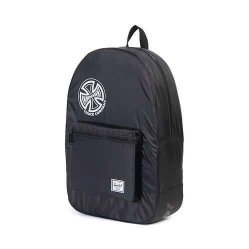 Herschel Packable Daypack - Black Independent Черный унисекс рюкзак из прочной ткани.