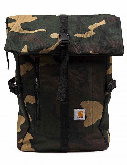 Carhartt WIP Phil Backpack Camo Combat Green Tan Мужской камуфляжный прочный рюкзак с пропиткой