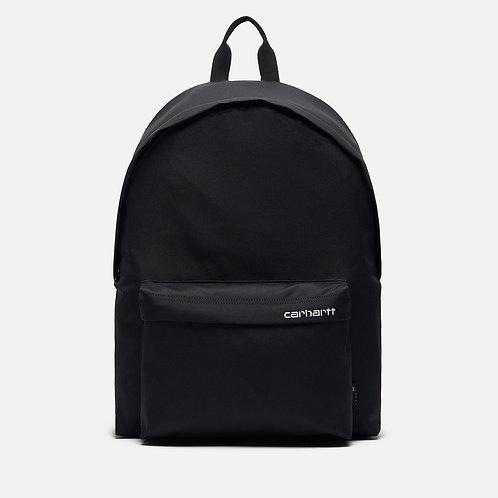 Carhartt WIP Payton Black Стильный черный не промокаемый рюкзак унисекс