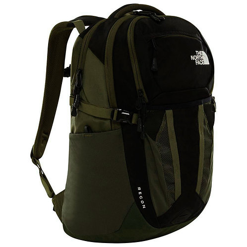 Зеленый мужской рюкзак The north face Recon 30L TNF Black / New Taupe Green Season 2019-2020