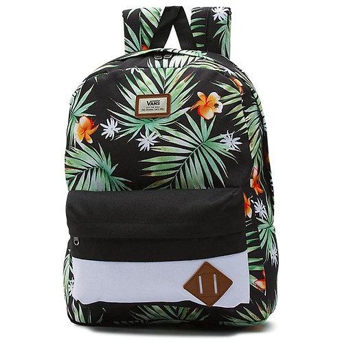 Vans Old Skool Ii Backpack Black Decay Palm Рюкзак унисекс черная пальма.