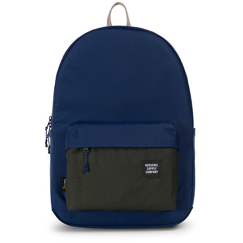 Мужской износостойкий крепкий городской рюкзак синего цвета