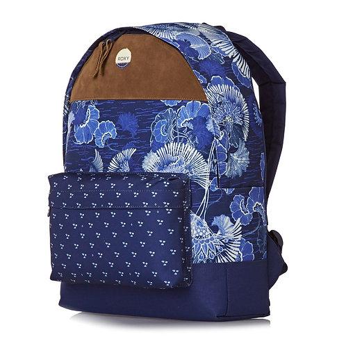 Женский рюкзак ROXY вечно-голубой цветок не дорого,городской рюкзак для девочек.