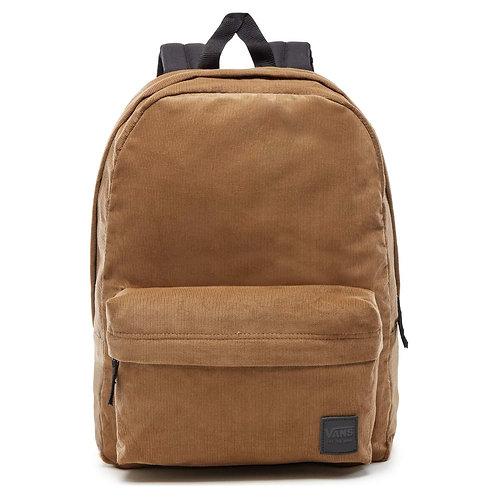 Vans Deana III Dirt Corduroy Backpack Рюкзак унисекс выполнен из светло-коричневого вельвета для винтажного, но модного вида.
