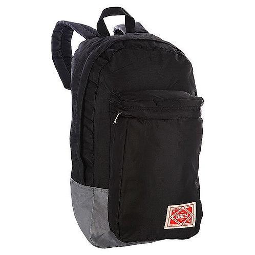 Obey Commuter Pack 2 Black/Grey Модный черно-серый мужской рюкзак Obey