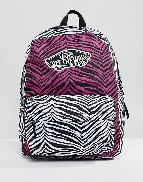 Vans Realm - Magenta Haze/White Zebra Женский светлый рюкзак на каждый день