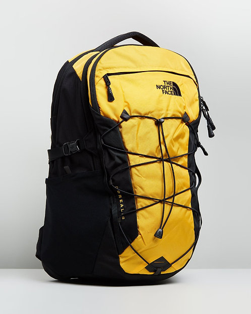 The North Face BOREALIS BACKPACK TNF YELLOW RIPSTOP/TNF BLACK(Mens). Мужской черно-желтый,прочный рюкзак RIPSTOP!