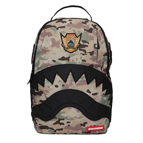Sprayground Multicam Rubber Black Shark - Camo Унисекс рюкзак от модного бренда США!
