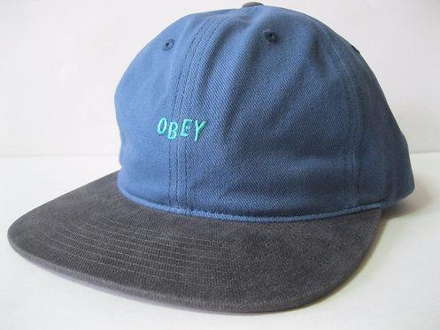 Obey 90's Jumble Hat Men Blue Cotton Strapback Flat Brim Cap-Стильная кепка синего цвета